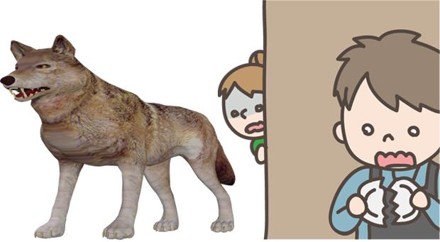 犬の先祖はオオカミ
