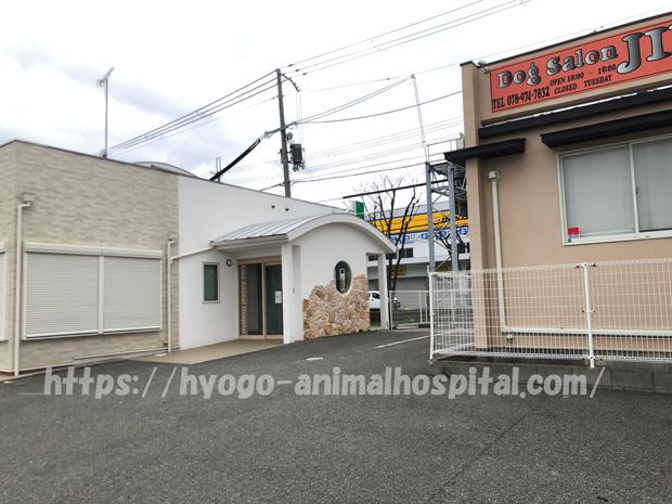 リアン動物病院の隣のドッグサロンジン